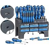 AGT Schraubenzieher Bit Set: 101-teiliges Schraubendreher- und Bit-Set mit Wandhalterung (Magnet Schraubendreher Set)