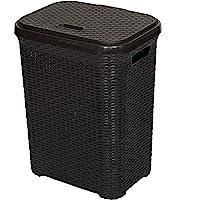 Esquire Elite Laundry Basket, Black Colour, 50L