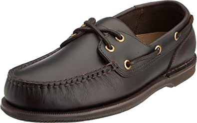 Rockport Perth Dark Brown Pull Up, Chaussures Bateau Homme