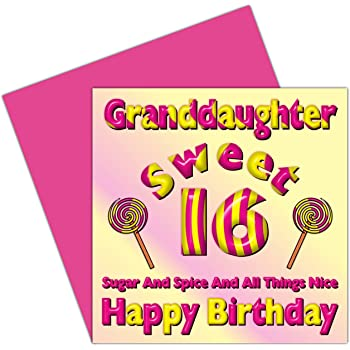 Granddaughter Sweet 16 Happy Birthday Card