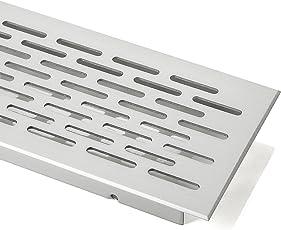 SO-TECH® Lüftungsgitter Belüftungsblech Lüftungsblech Oval - Alu (EV1) - 500 mm