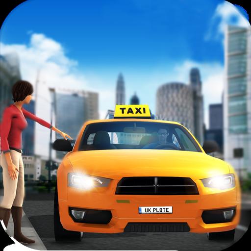 Sportwagen verrückter Taxifahrer-Simulator 2019: Open World Taxi Cab Driving-Spiele kostenlos