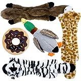 Toozey 5 Paquete de Juguetes con Sonido para Perros, Sin Relleno y Rellenos - Juguetes para Masticar Perros Seguros y No Tóxi