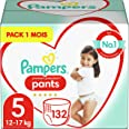 Pampers Couches-Culottes Premium Protection Pants Taille 5 (12-17kg) notre N°1 pour la protection des peaux sensibles, Facile