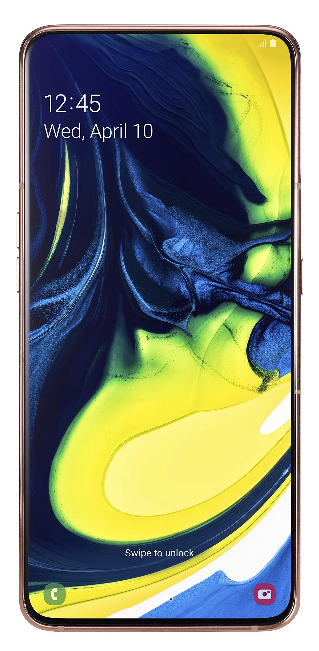 Samsung Galaxy A80 Smartphone (17.0cm (6,7 Zoll) 128GB interner Speicher, 8GB RAM, Dual Sim, Angel Gold) Deutsche Version