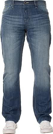 Enzo Designer Mens Jeans Regular Fit Denim Pants Big King Tall All Waist Sizes
