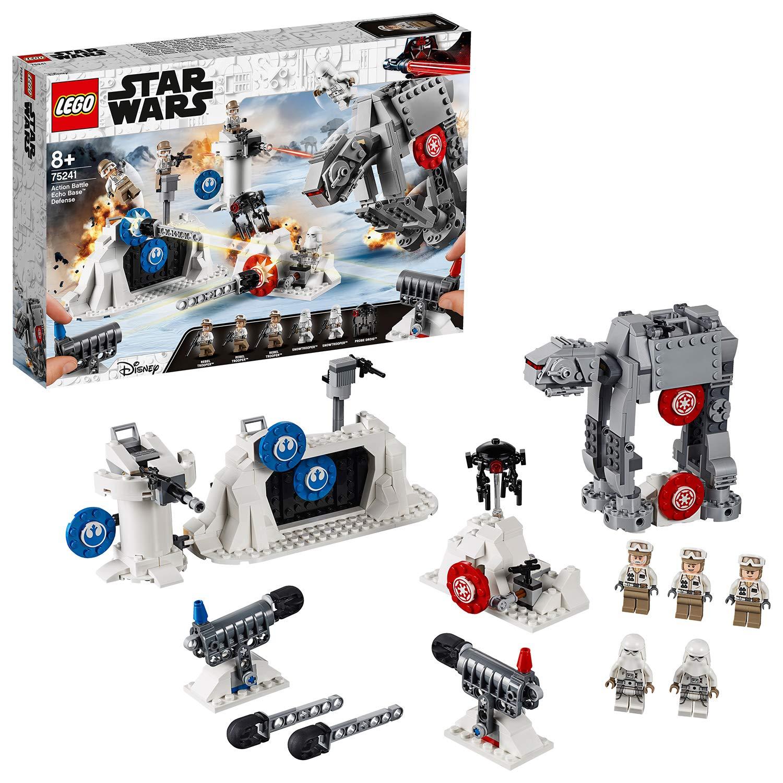 LEGO Star Wars – Action Battle: Defensa de la Base Eco, Juguete de Construcción de Nave Espacial de La Guerra de las Galaxias, Incluye Caminante AT-AT (75241)