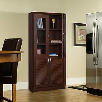 HomeTown Stark 4 Door Book Case Walnut