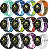 Replacement Compatible for Samsung Galaxy Watch 3 41mm/Galaxy Active 2 Watch Bands 40mm/44mm,20mm Silicone Watch Strap Breath