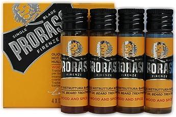 PRORASO Heißes Öl für den Bart, 4 x 17 ml, 68 ml