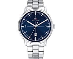 Tommy Hilfiger Blue Dial Stainless Steel Watch For Men