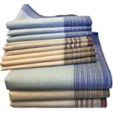 JEMIDI Stoffen zakdoeken voor heren, 40 cm x 40 cm, katoen, 12 stuks, 100% katoen, herenzakdoeken, stoffen zakdoeken in versc