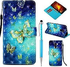 ZCRO Handytasche für Xiaomi Pocophone F1, Schutzhülle Leder Brieftasche Hülle Etui Flip Case 3D Muster Bunt Leder Tasche Cover Magnet Handyhüllen für Xiaomi Pocophone F1