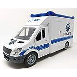 Auto della polizia, giocattolo per auto, con luce blu e suono, 27 cm