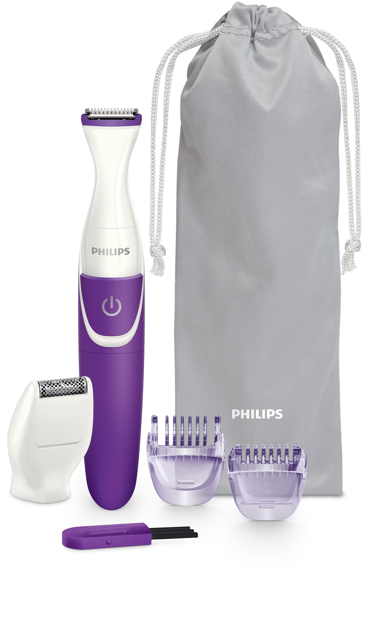 Philips BikiniGenie BRT38315 Handy Bikini Trimmer For Trimming Shaving And Styling The Bikini Zone With Comb Attachments And Shaving Heads For Effortless Hair Removal