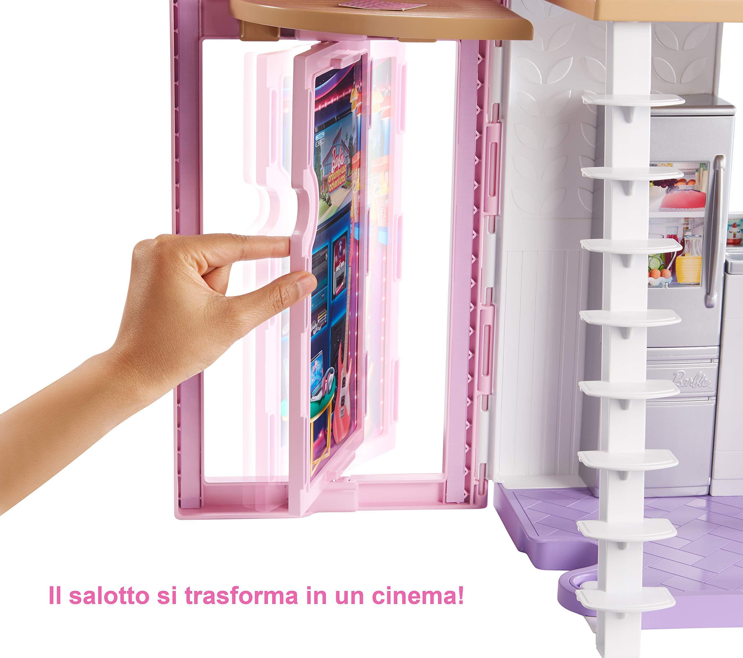 Barbie- La Nuova Casa di Malibu, Playset Richiudibile su Due Piani con Accessori, 61 cm, Giocattolo per Bambini 3+ Anni… 5 spesavip