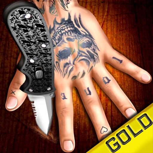 dito crash - la gabbia arrugginita 'gioco coltello canzone' oro ufficiale del gioco - Esercito Oro Coltello