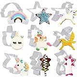 Belle Vous Roestvrij stalen koekjessnijders (9 stuks) - 9 vormen - Eenhoorn Biscuit Cutter Set met ster, regenboog & eenhoorn