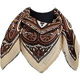 tessago foulard dis 27418 lana 100% variante avorio misura cm 80 X 80