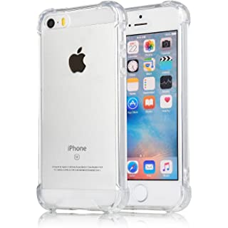 Egotude Shock Proof Hard Back Cover Case for Apple iPhone SE   iPhone 5S  Transparent