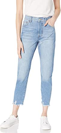 Amazon Brand - Women's Audrey Slim High-Rise Straight Fit Button-Fly Jean by The Drop