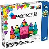 Magna-Tiles Magnetic Building Toys, Clear Colors Set, Multi Color (32 Pieces)
