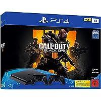 PlayStation 4 - Konsole (1TB, schwarz, slim) inkl. Call of Duty: Black Ops 4 + 2 DualShock Controller [Edizione…