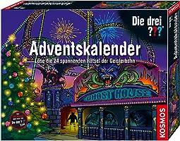 KOSMOS 634162 - Die drei ??? Adventskalender 2019, Löse 24 spannende Rätsel in der Geisterbahn, mit 24...