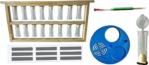 Queen Rearing kit Set (Combo of 5 Items) Queen Rearing Frame-1, Grafting Needle-1, Queen gate-1,Ventilator-1,Queen cage-1