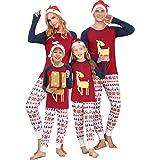 Doaraha Pijamas de Navidad Familia Conjunto Pantalon y Top Manga Larga Pijama 2 Piezas Ropa de Dormir para Mujer Hombre Mamá