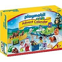 PLAYMOBIL Adventskalender 9391 Waldweihnacht der Tiere mit weihnachtlichen Figuren, Tieren und Zubehör hinter jedem…