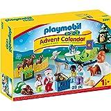 Playmobil Adventskalender 9391 Kerstmis in het Bos, Met Dieren, Vanaf 1,5 Jaar, 40 x 30 x 7,5 cm, Meerkleurig