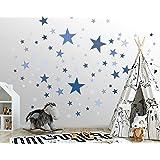 50 stickers muraux étoiles pour la chambre des enfants - ensemble d'autocollants muraux - bébé ciel étoilé à coller sur la dé