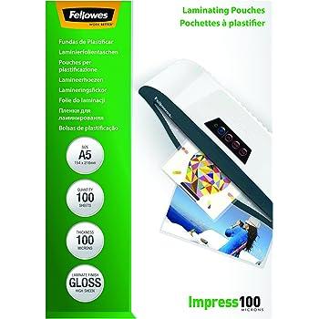 Fellowes 5351002 Pochettes De Plastification Brillantes Impress 100 Microns A5