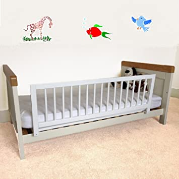 Safetots Wooden Bed Rail White Amazoncouk Baby