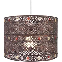 Copper Gem Moroccan Style Chandelier Ceiling Light Shade Fitting Round Universal