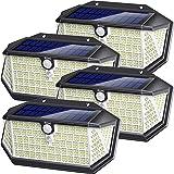 Lampe Solaire Extérieur,266 LED 2200mAH Avec Détecteur de Mouvement Lampe Solaire Extérieur,IP65 Étanche,3 Modes Appliques Sé