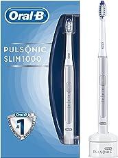 Oral-B Pulsonic Slim 1000 Elektrische Schallzahnbürste, mit Timer und Aufsteckbürste, silber