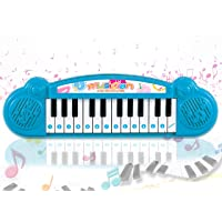 Popsugar - THPI6614AB Mini Musical Keyboard with 24 Keys for Kids, Blue