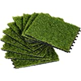 Outsunny Césped Artificial con Altura de Hierba 25mm Tipo Alfombra o Estera de Hierba Sintética de Exterior para Jardín y Ter