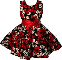 Bidhan Beautifully Designed Red Girl's Frock