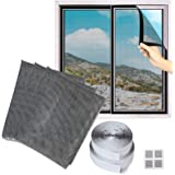 LIBRNTY Fly Screen for Window-3 Packs,Upgrade Window Insect Screen Mesh Net 1.3m x 1.5m DIY Bug Bee Anti Mosquito Protector K