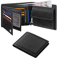HOCRES® Wallets for Mens Muti-Functional RFID Blocking Leather Slim Wallet with 15 Credit Card Holders, 2 Banknote…