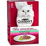 Purina Gourmet Mon Petit kattfoder vått, fiskvariationer, 8-pack (8 x 6 påsar 50 g)