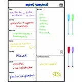 Smart Panda Calendario Magnético para Nevera - Ideal Planificador de Menú, Recordatorio, Lista de la Compra - Pizarra Magnéti
