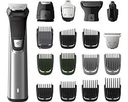 Philips MULTIGROOM Series 7000 MG7770/15 - Afeitadora recargable (Negro, Plata, Rectángulo, Barba, Oído, Ceja, Moustache, Nar