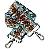 BENAVA Taschengurt Boho Muster Schulterriemen für Taschen 75-135cm mit Karabiner in Farbe Schwarz   Schultergurt für Taschen