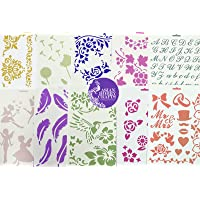 Asian Hobby Crafts Craft Stencils for Sketching, Scrapbooking, Kids Crafts A4 Assorted (Designs as per Availability…