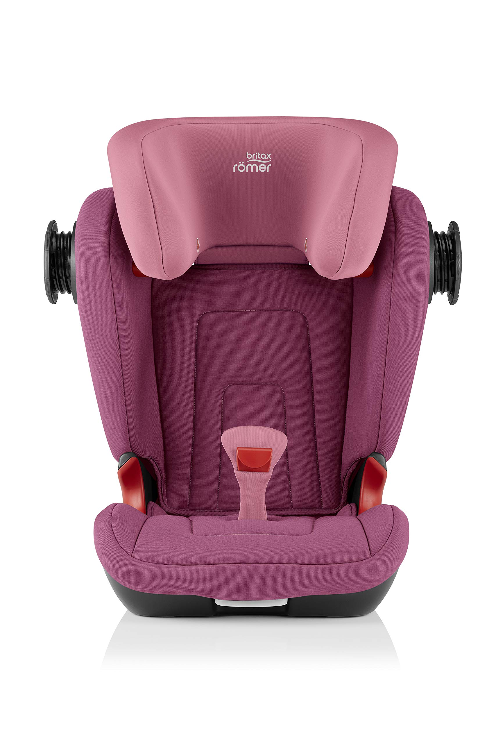 Britax Römer KIDFIX² S Group 2-3 (15-36kg) Car Seat - Wine Rose  Advanced side impact protection - sict offers superior protection to your child in the event of a side collision. reducing impact forces by minimising the distance between the car and the car seat. Secure guard - helps to protect your child's delicate abdominal area by adding an extra - a 4th - contact point to the 3-point seat belt. High back booster - protects your child in 3 ways: provides head to hip protection; belt guides provide correct positioning of the seat belt and the padded headrest provides safety and comfort. 6