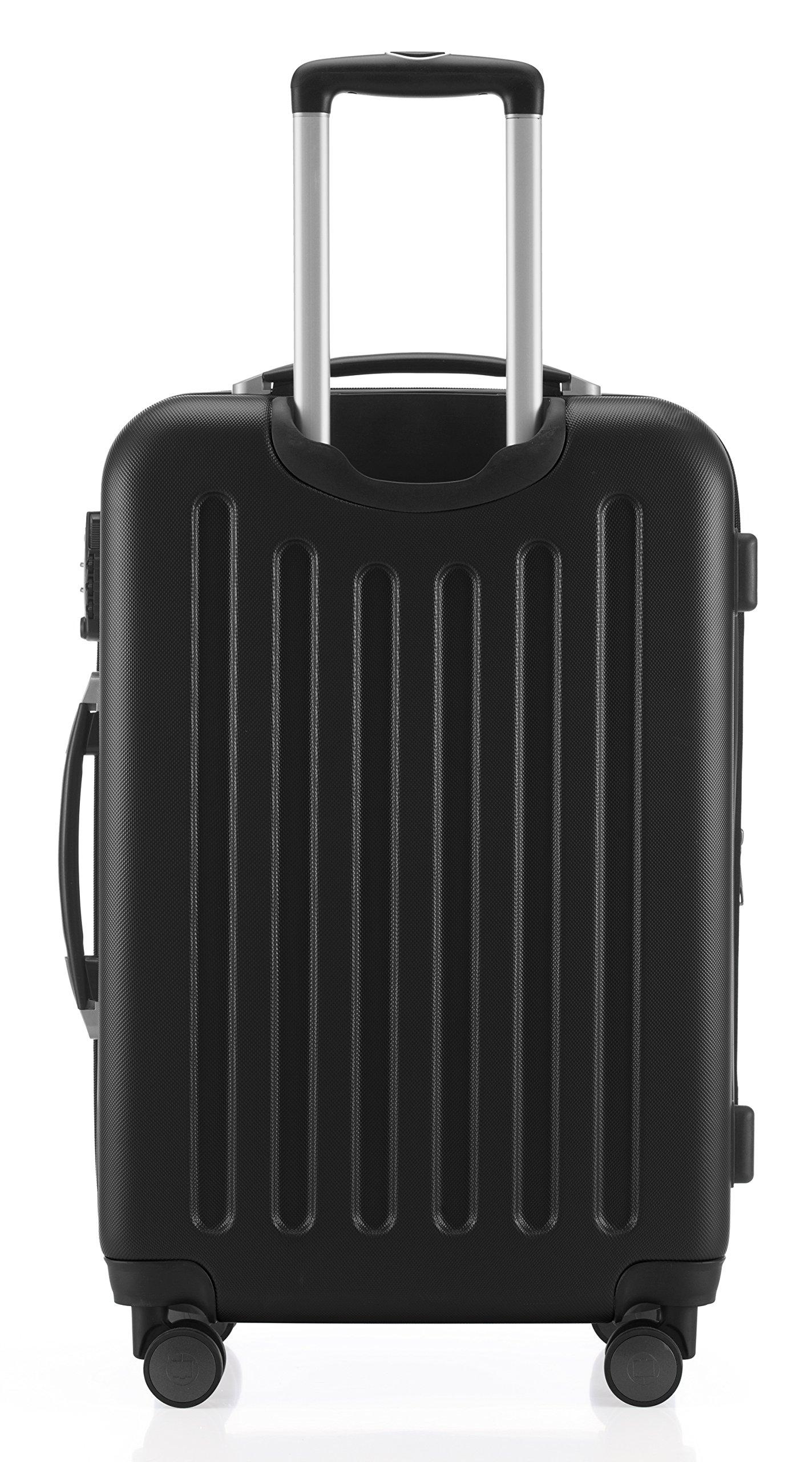 Hauptstadtkoffer-Spree-Handgepck-Hartschalen-Koffer-Trolley-Rollkoffer-Reisekoffer-Erweiterbar-TSA-4-Rollen-55-cm-42-Liter-Schwarz